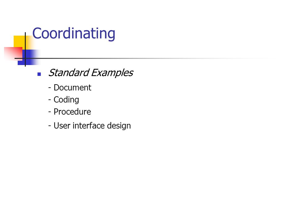 Coordinating Standard Examples - Document - Coding - Procedure