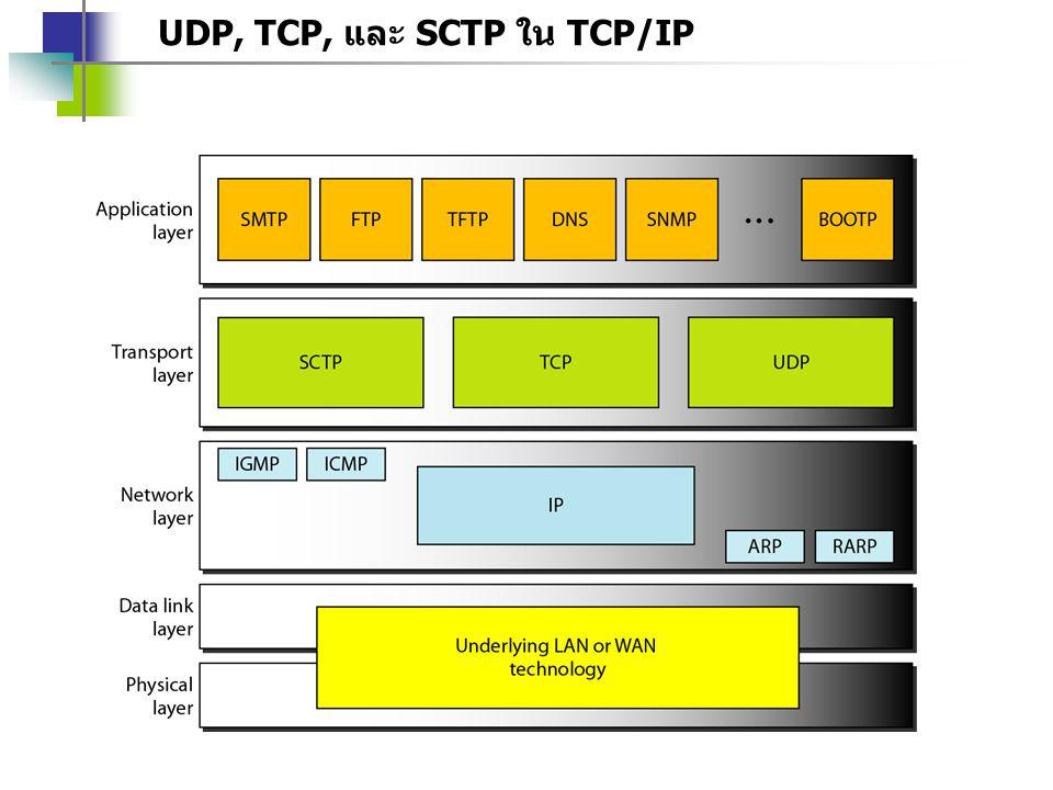 UDP, TCP, และ SCTP ใน TCP/IP