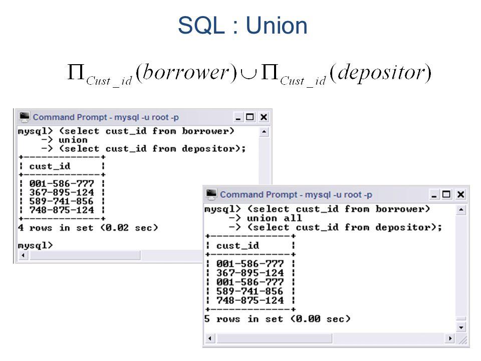 SQL : Union
