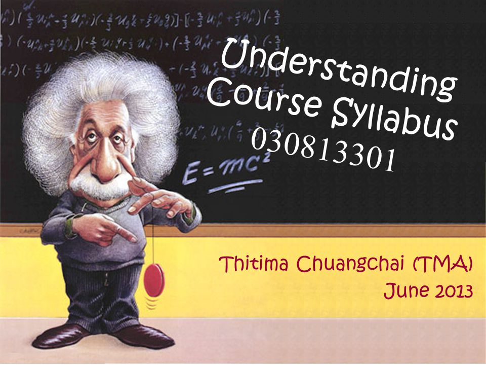 Understanding Course Syllabus 030813301