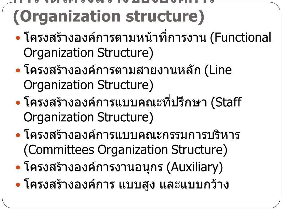 การจัดโครงสร้างขององค์การ (Organization structure)