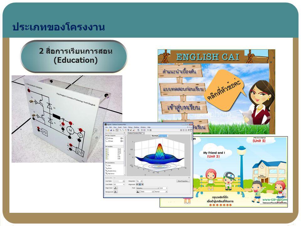ประเภทของโครงงาน 2 สื่อการเรียนการสอน (Education)