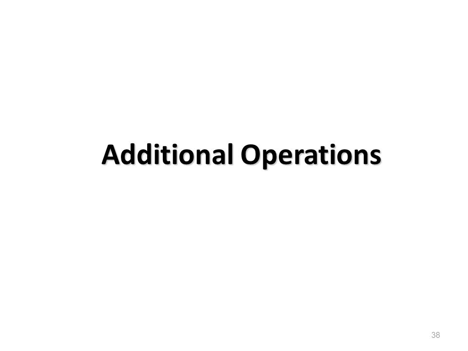 Additional Operations