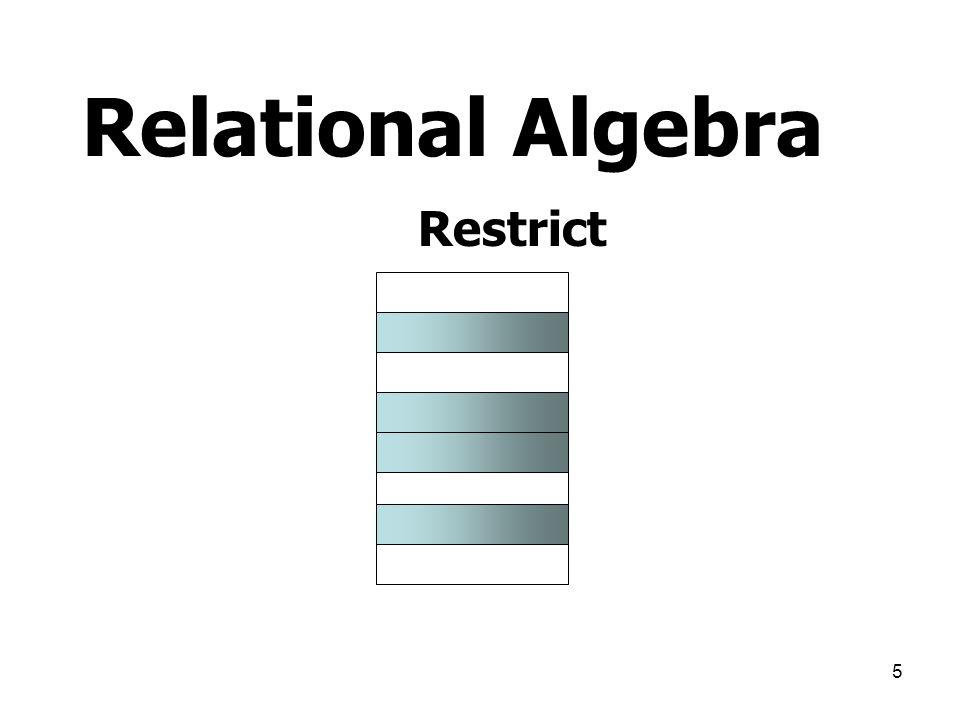 Relational Algebra Restrict