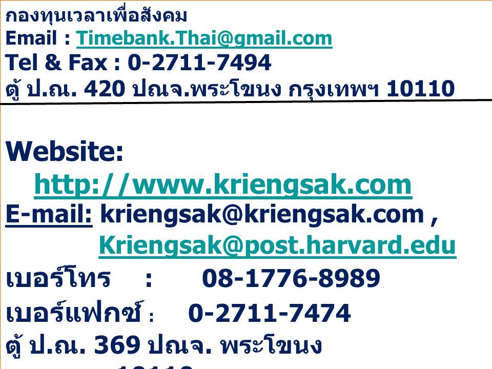 Website: http://www.kriengsak.com