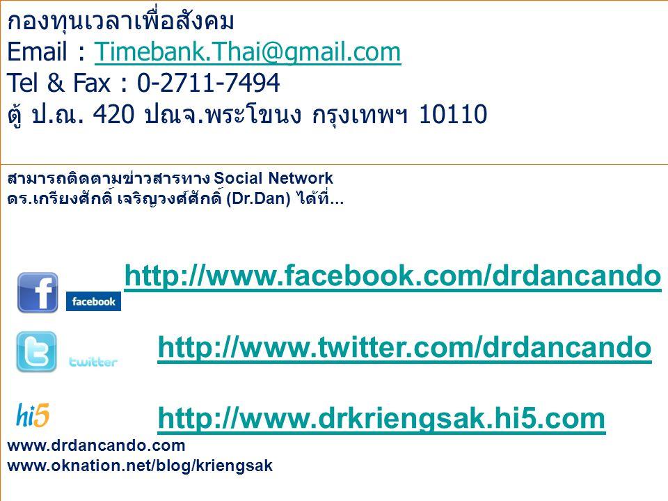 http://www.facebook.com/drdancando http://www.twitter.com/drdancando