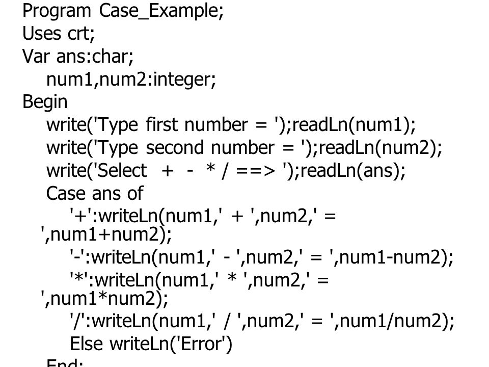 Program Case_Example;