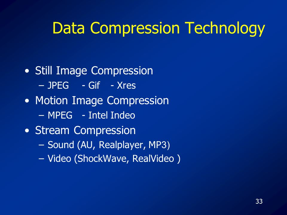 Data Compression Technology
