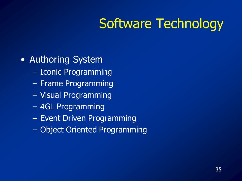 Software Technology Authoring System Iconic Programming