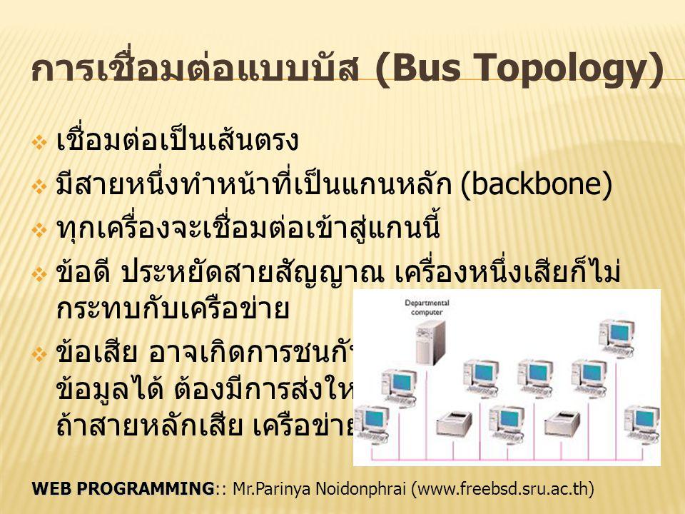 การเชื่อมต่อแบบบัส (Bus Topology)
