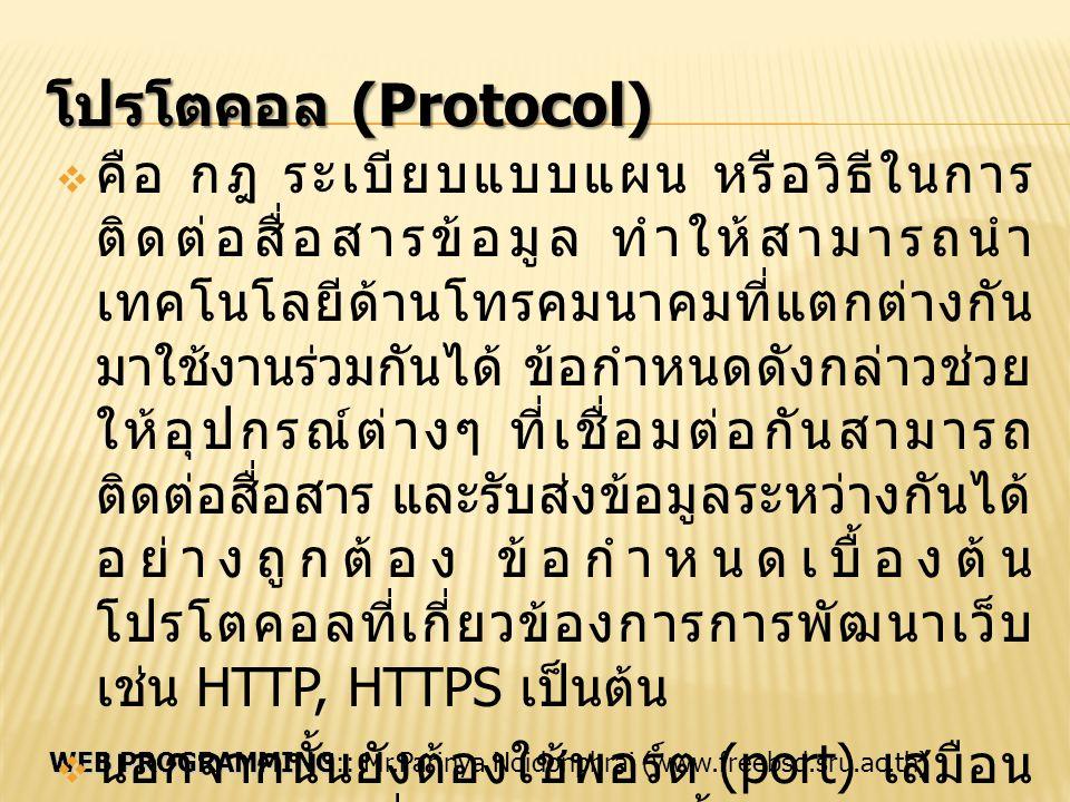 โปรโตคอล (Protocol)