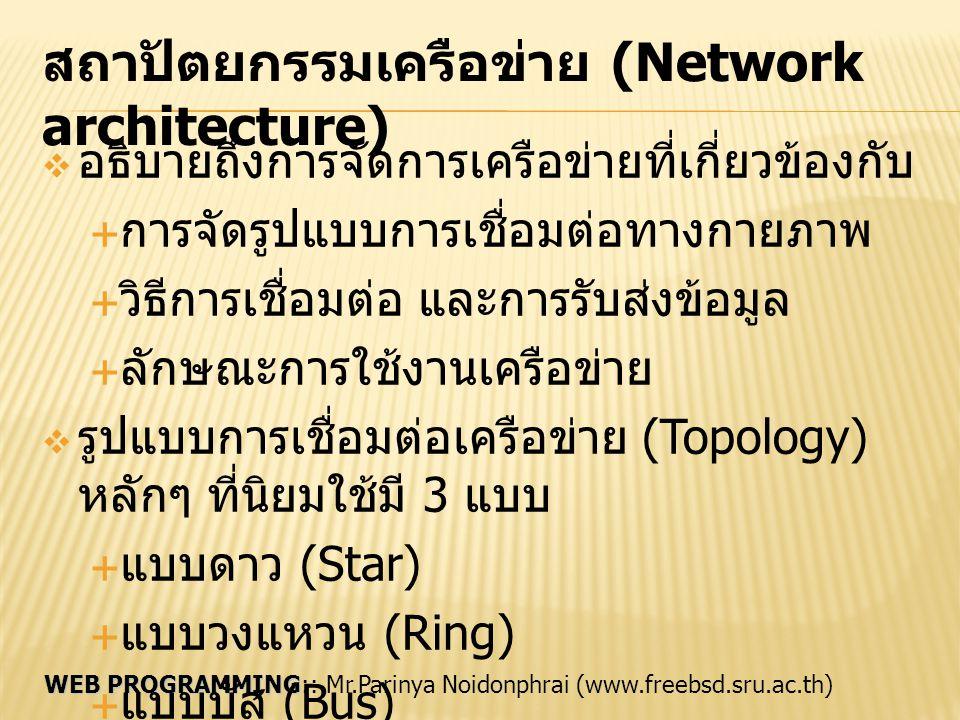 สถาปัตยกรรมเครือข่าย (Network architecture)