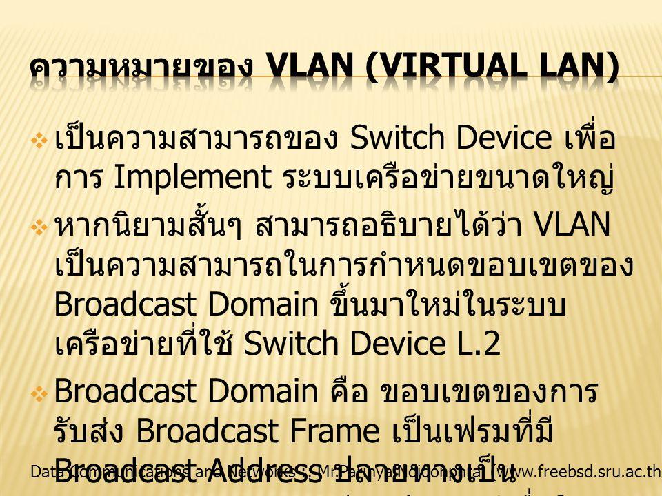 ความหมายของ VLAN (Virtual LAN)