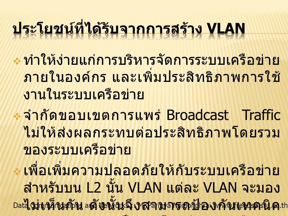 ประโยชน์ที่ได้รับจากการสร้าง VLAN