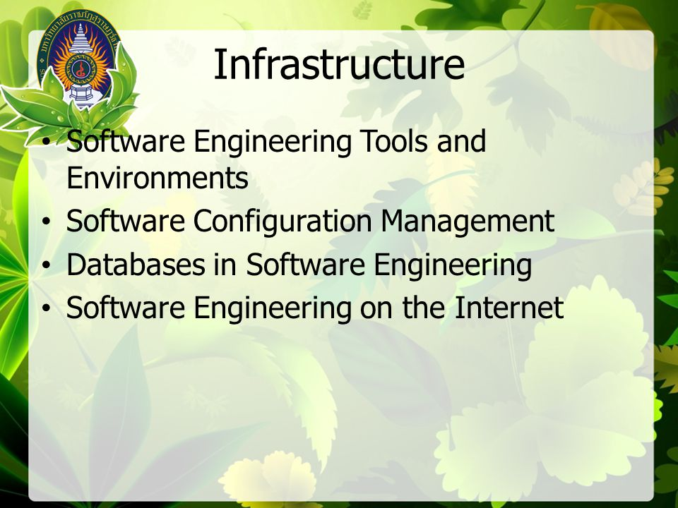 Infrastructure Software Engineering Tools and Environments