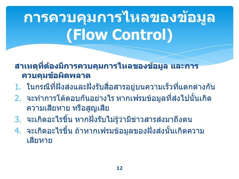 การควบคุมการไหลของข้อมูล (Flow Control)