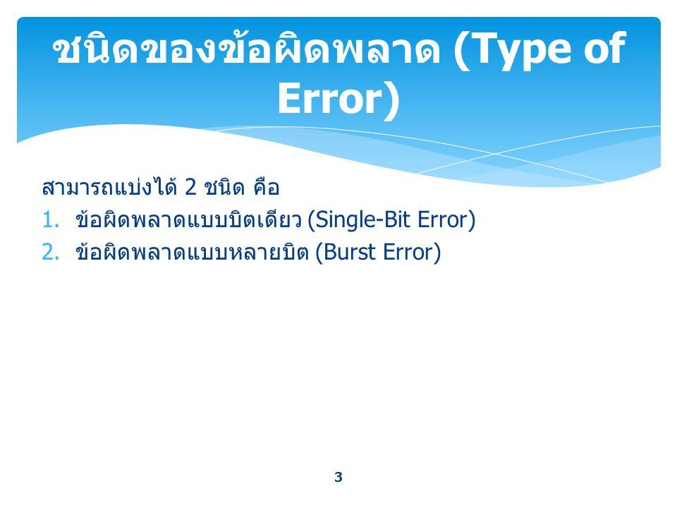 ชนิดของข้อผิดพลาด (Type of Error)