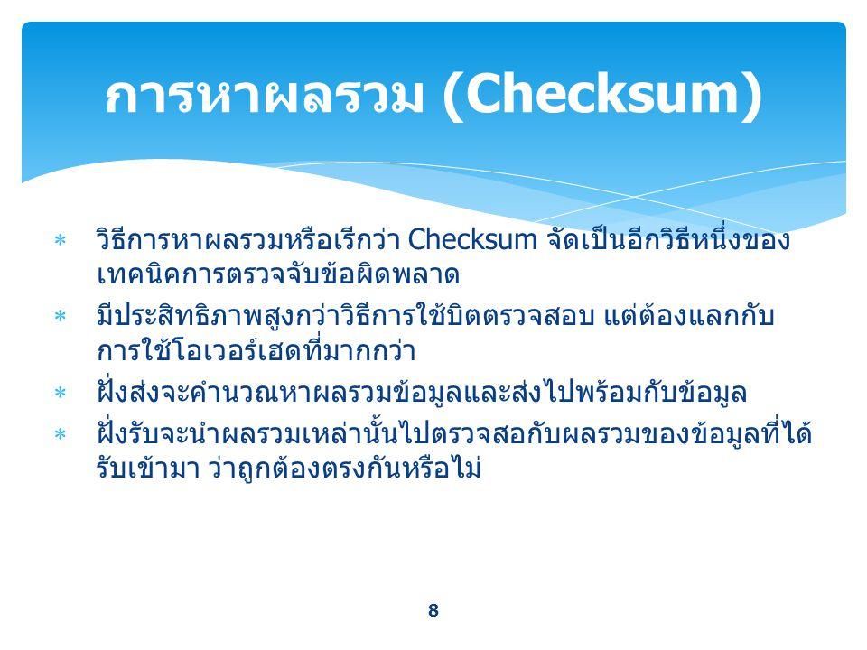 การหาผลรวม (Checksum)
