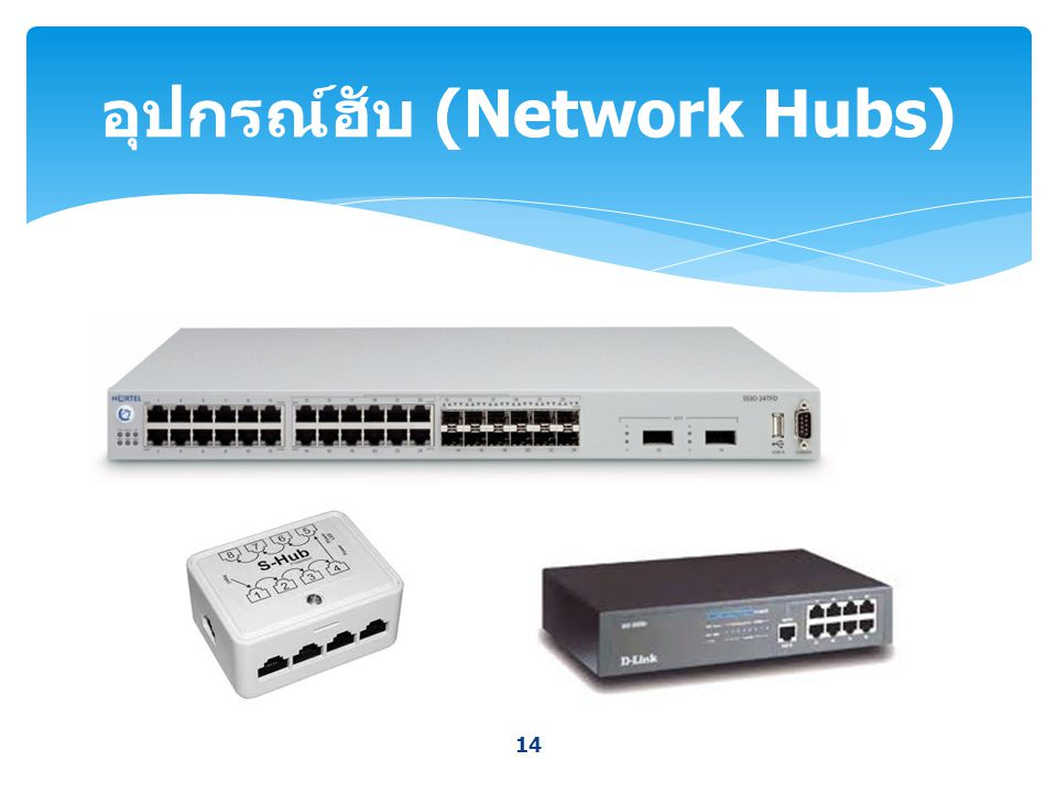 อุปกรณ์ฮับ (Network Hubs)