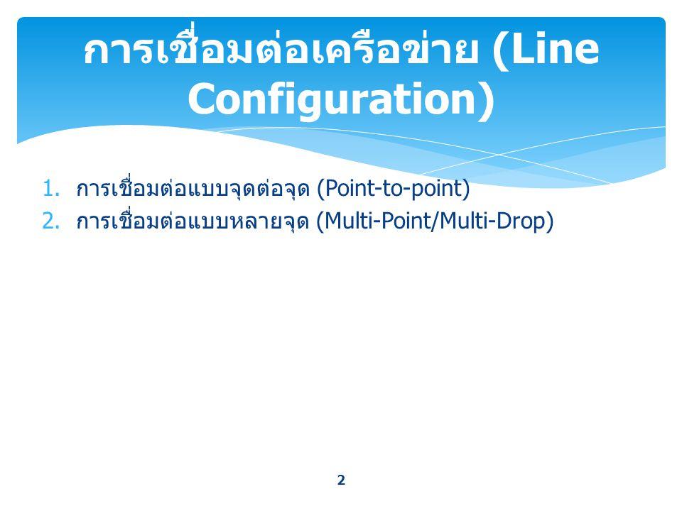 การเชื่อมต่อเครือข่าย (Line Configuration)