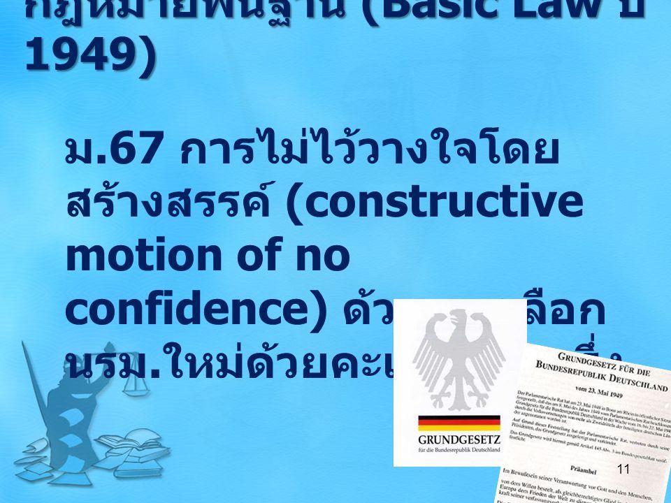 กฎหมายพื้นฐาน (Basic Law ปี 1949)