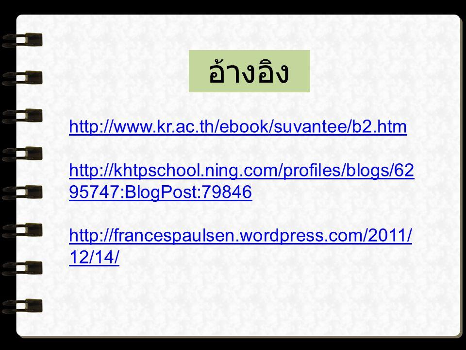 อ้างอิง http://www.kr.ac.th/ebook/suvantee/b2.htm