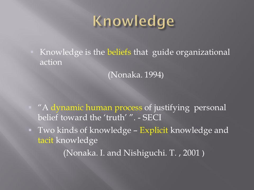 (Nonaka. I. and Nishiguchi. T. , 2001 )