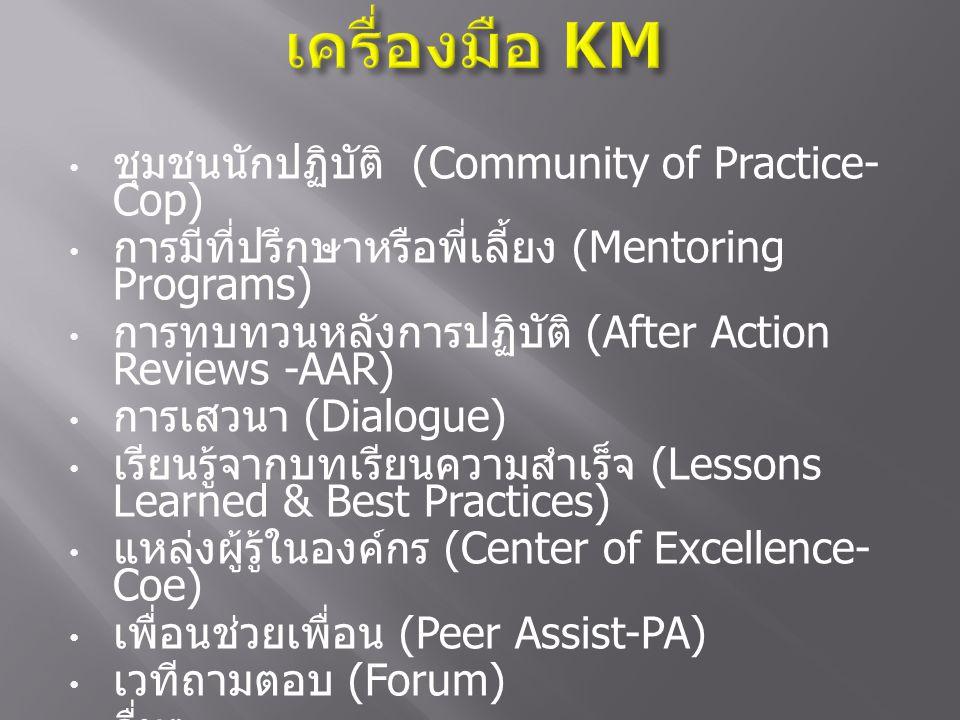 เครื่องมือ KM ชุมชนนักปฏิบัติ (Community of Practice-Cop)
