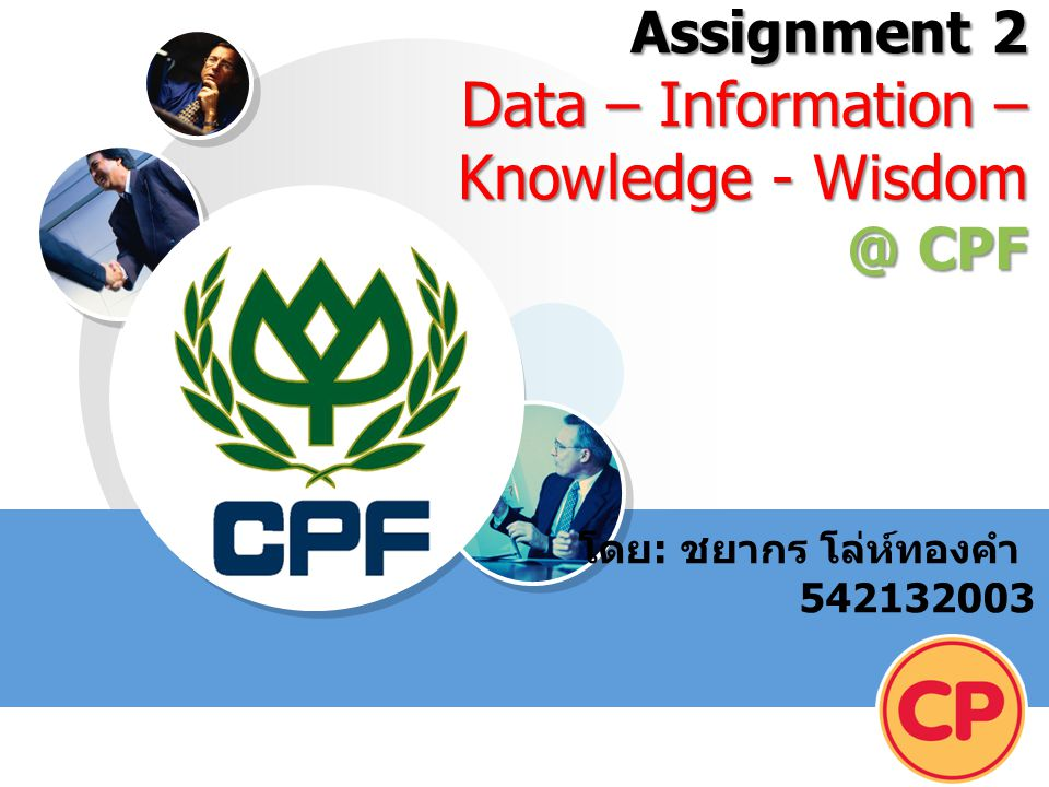 Assignment 2 Data – Information – Knowledge - Wisdom @ CPF