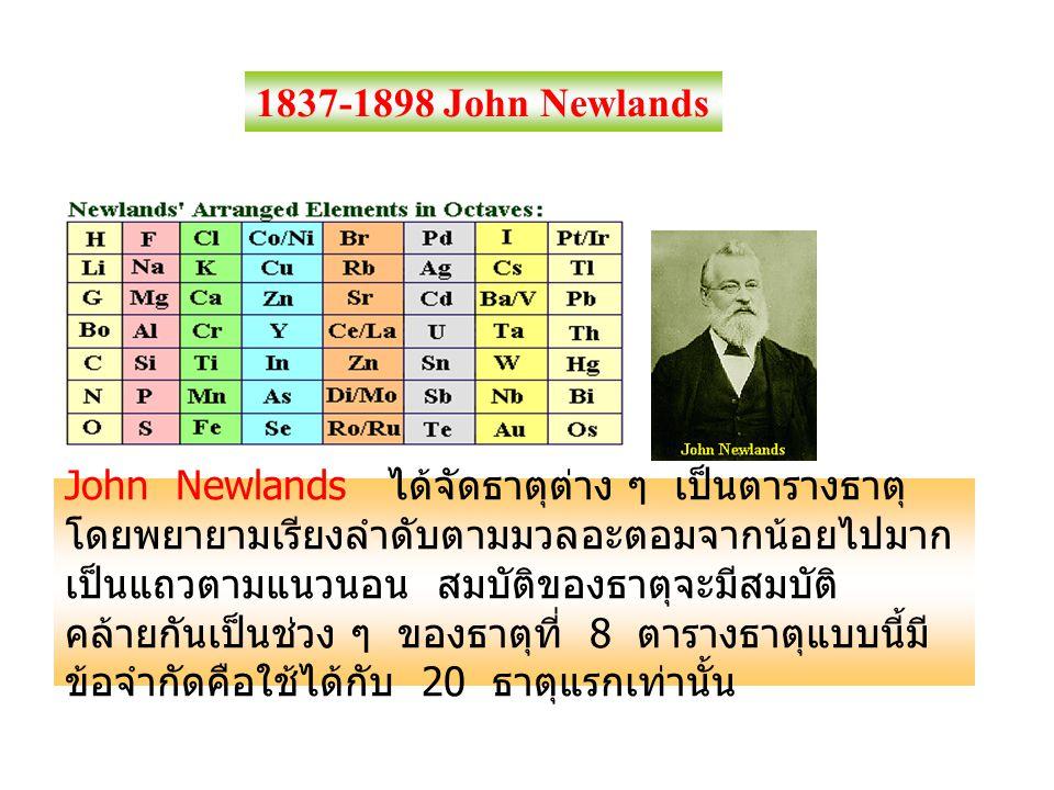 1837-1898 John Newlands