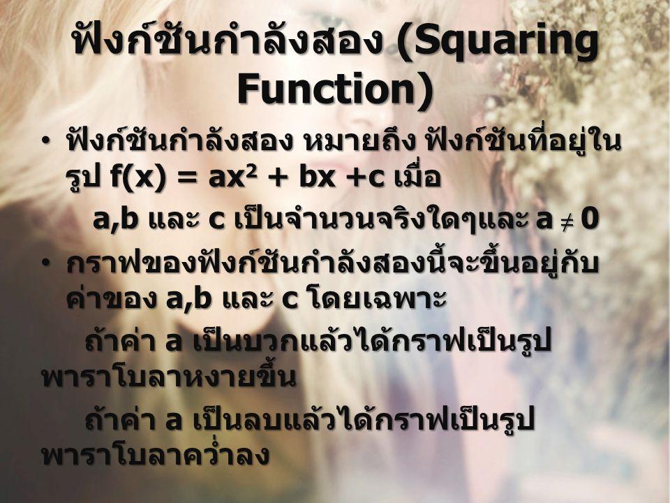 ฟังก์ชันกำลังสอง (Squaring Function)