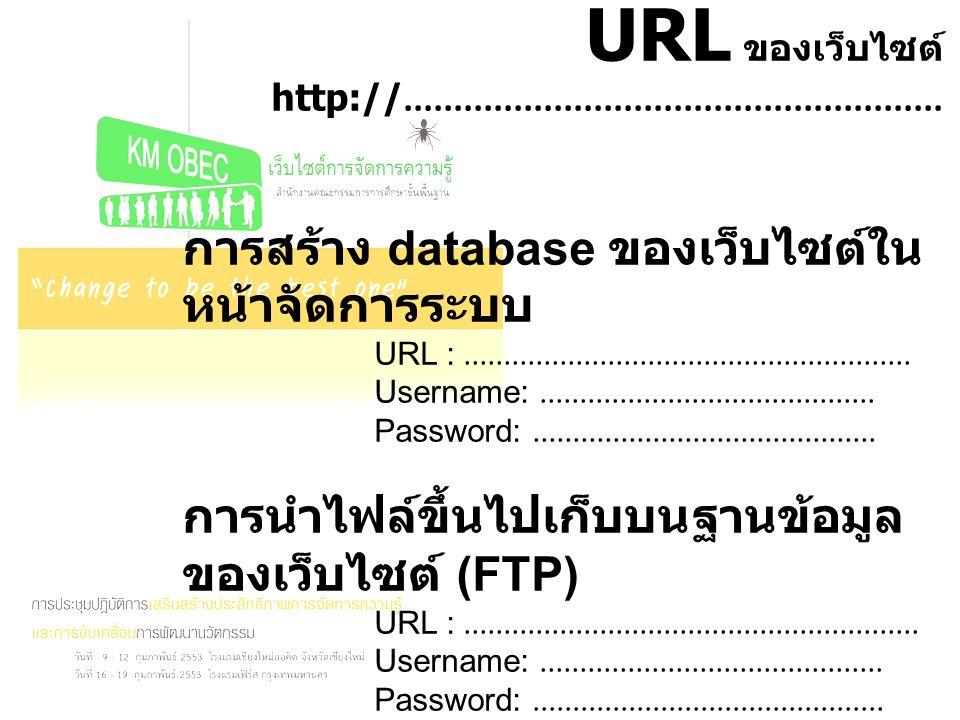 URL ของเว็บไซต์ http://......................................................