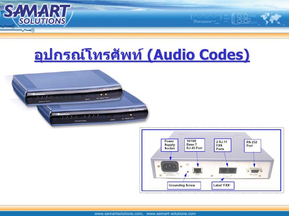 อุปกรณ์โทรศัพท์ (Audio Codes)