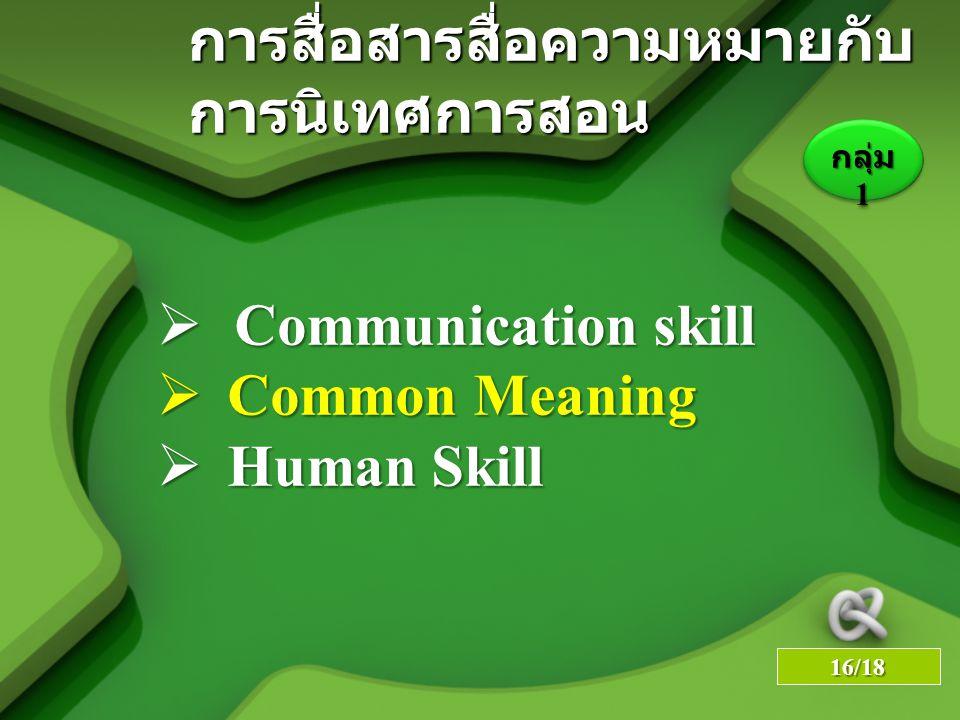 การสื่อสารสื่อความหมายกับ การนิเทศการสอน