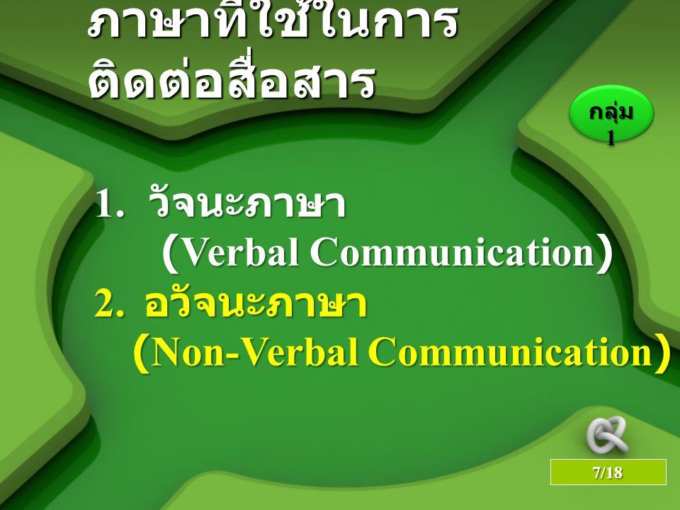 ภาษาที่ใช้ในการติดต่อสื่อสาร