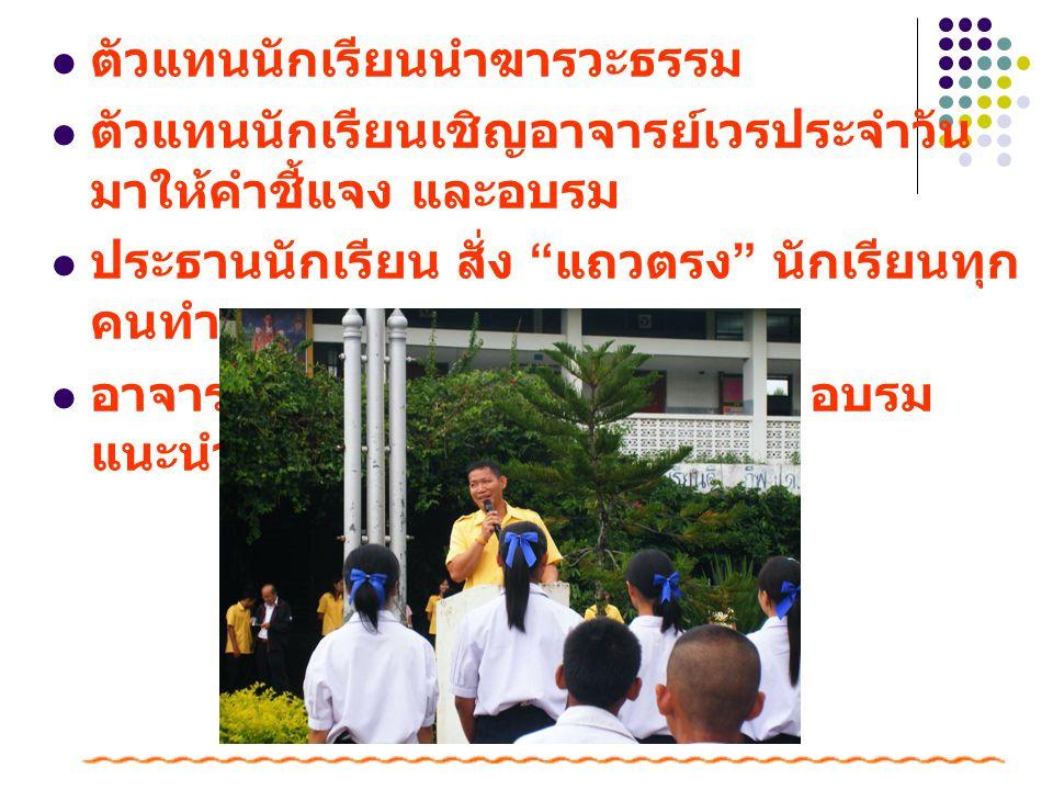 ตัวแทนนักเรียนนำฆารวะธรรม