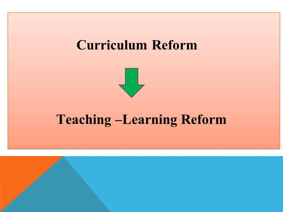 Teaching –Learning Reform