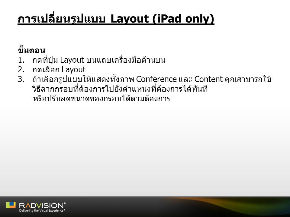 การเปลี่ยนรูปแบบ Layout (iPad only)