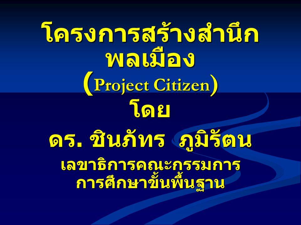 โครงการสร้างสำนึกพลเมือง (Project Citizen)