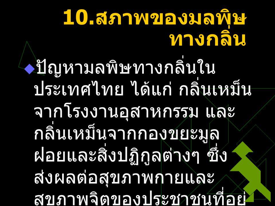 10.สภาพของมลพิษทางกลิ่น