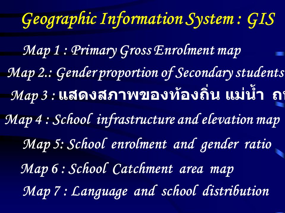 Geographic Information System : GIS