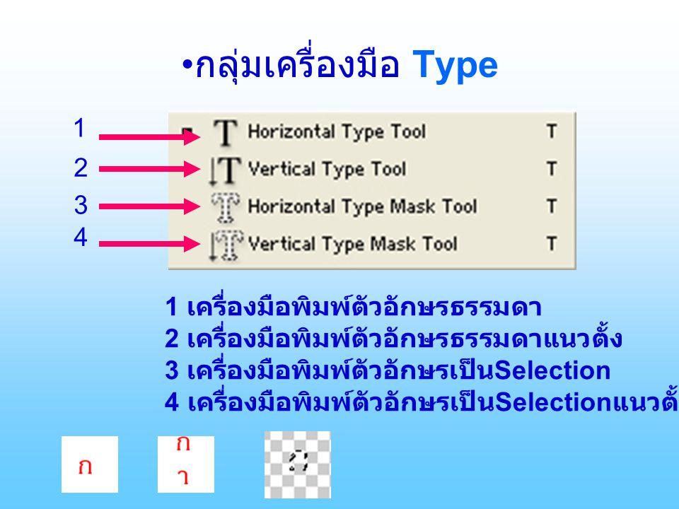 •กลุ่มเครื่องมือ Type