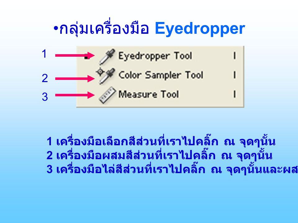 •กลุ่มเครื่องมือ Eyedropper