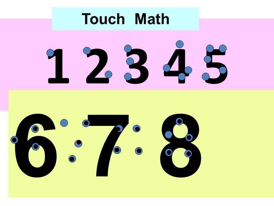 Touch Math 1 2 3 4 5 6 7 8 9 0