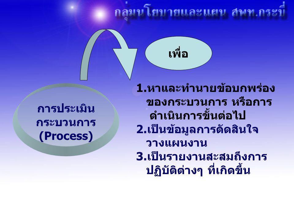 การประเมิน กระบวนการ (Process)