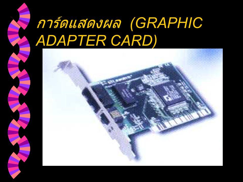 การ์ดแสดงผล (GRAPHIC ADAPTER CARD)