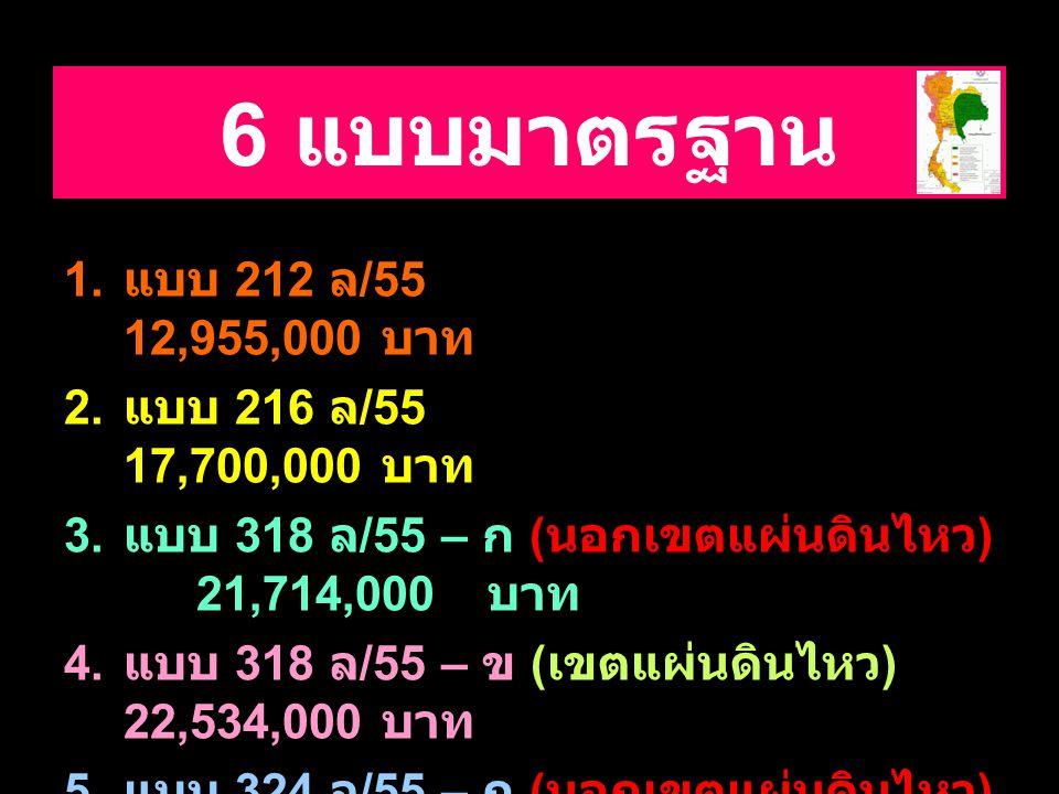 6 แบบมาตรฐาน แบบ 212 ล/55 12,955,000 บาท แบบ 216 ล/55 17,700,000 บาท