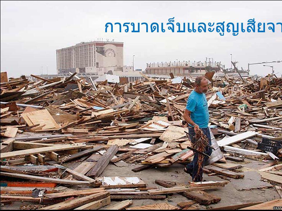 การบาดเจ็บและสูญเสียจากภัยธรรมชาติ