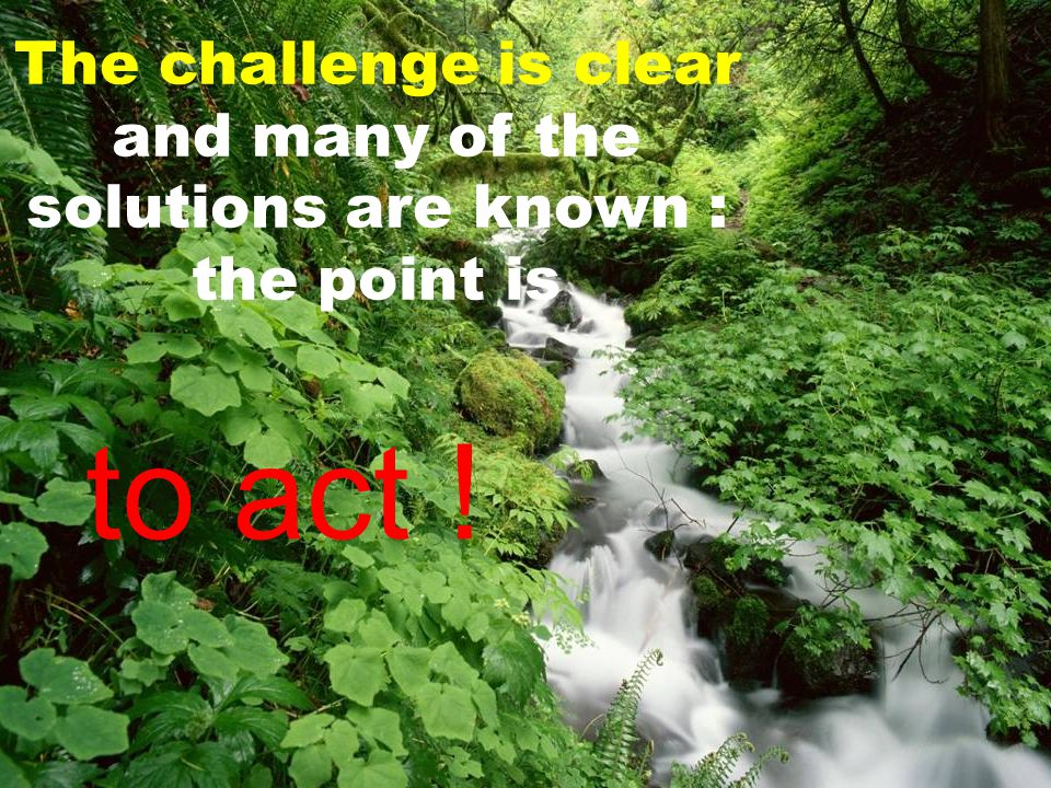 The challenge is clear and many of the solutions are known : the point is