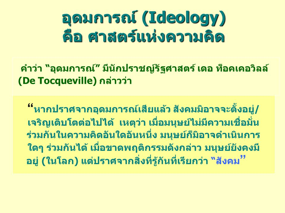 อุดมการณ์ (Ideology) คือ ศาสตร์แห่งความคิด